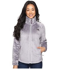 The North Face Osito 2 Jacket Metallic Silver Blackberry Wine Women's Coat Metallic Silver Blackberry Wine