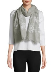 Collection 18 Frayed Floral Scarf Grey