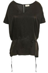 American Vintage Woman Washed Silk Top Charcoal