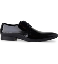 Hudson Dollar Perforated Derby Shoes Black