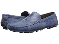 Robert Graham Verrazano 4 Blue Floral Leather Men's Shoes