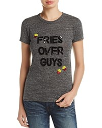 Bow And Drape Fries Over Guys Tee 100 Bloomingdale's Exclusive Charcoal