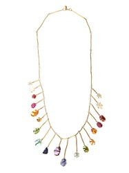 Pippa Small Multi Stone And Yellow Gold Necklace