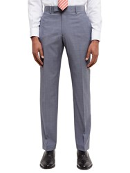 Jaeger Super 110S Wool Sharkskin Regular Fit Trousers Grey Melange