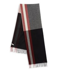 Bally Fringed Wool Scarf Black