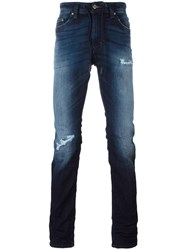 Diesel Gradient Drawstring Slim Fit Jeans Blue