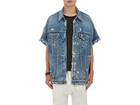 R 13 R13 Men's Trucker Oversized Denim Jacket Blue