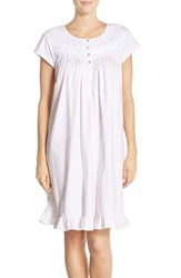 Eileen West Women's Floral Print Cotton Short Nightgown