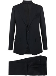 Dell'oglio Single Breasted Two Piece Suit Blue