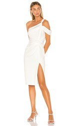 Katie May Chic Af Midi Dress In White. Ivory
