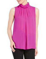 Ellen Tracy Solid Sleeveless Shell Top Pink