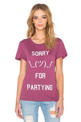 Local Celebrity Sorry For Partying Schiffer Tee Mauve