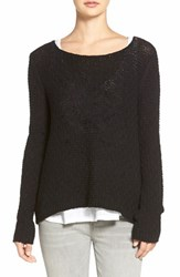 Women's Hinge Back Keyhole Sweater