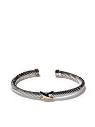 David Yurman 14Kt Yellow Gold X Silver Cuff Bracelet Metallic