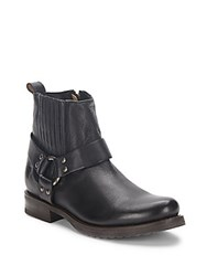 Frye Leather Harness Boots Black