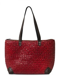 East Wicker Colour Bag Red