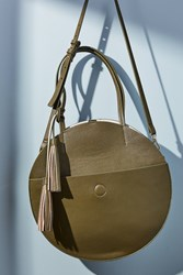 Anthropologie Circular Tote Bag Moss