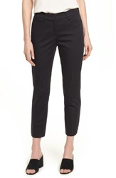 Brax Straight Leg Cropped Trousers Black