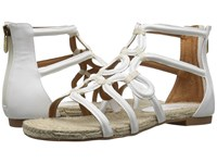 Adrienne Vittadini Pablic White Smooth Women's Sandals
