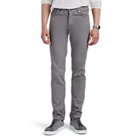 Marco Pescarolo Washed Stretch Cotton Silk Twill Trousers Light Gray