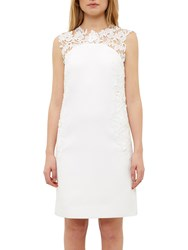 Ted Baker Kirra Applique Lace Detail Tunic Dress White
