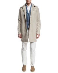 Loro Piana Delaware Button Down Trench Coat Pumice Desert Dust Tan Camel