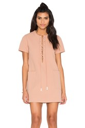 Kendall Kylie Lace Up Safari Dress Beige