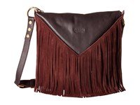 Hammitt Andrew Fringe Malbec Gold Handbags Brown