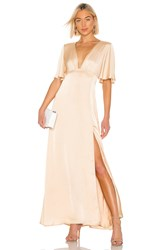 The Jetset Diaries Here Comes Sun Maxi Dress Tan