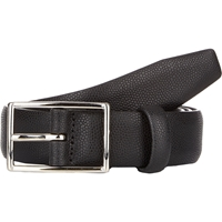 Barneys New York Caviar Grained Leather Belt Black