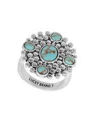 Lucky Brand April Chase Statement Ring Medium Grey
