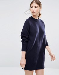 Wood Wood Rosa Jumper Dress In Navy Navy