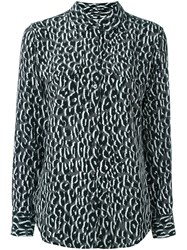 Equipment Leopard Print Blouse Grey