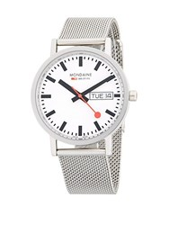 Mondaine Stainless Steel Strap Watch Silver