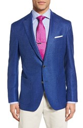 David Donahue Men's Big And Tall Aiden Classic Fit Wool Blazer Blue