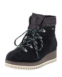 Ugg Birch Lace Up Wedge Hiker Booties Black