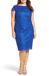 Brianna Plus Size Women's Embroidered Lace Sheath Dress