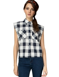 Pixie Market Gingham Crop Top