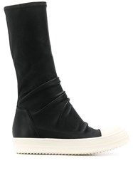 Rick Owens Slouch Style Sneaker Boots Black