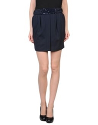 Cristinaeffe Mini Skirts Dark Blue