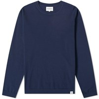Norse Projects Sigfred Dry Cotton Crew Knit Blue