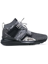 Puma Limitless Hi Sneakers Women Calf Leather Polyester Rubber 6 Black