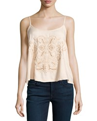 Romeo And Juliet Couture Beaded Embroidered Tank Blush