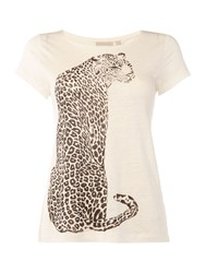 Inwear Leopard T Shirt Off White