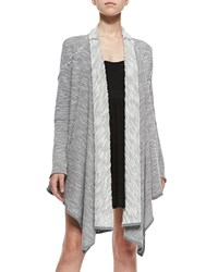 Free People In The Loop Long Open Front Cardigan Cream Gray