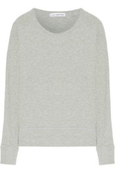 James Perse French Cotton Terry Sweatshirt Gray