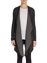 Xcvi Fishnet Knit Cardigan Sweater Shadow