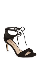 Via Spiga Women's 'Skylar' Open Toe Dress Sandal Black Suede