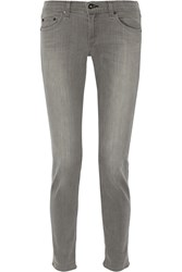 Rag And Bone The Dre Mid Rise Slim Boyfriend Jeans Gray