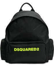 Dsquared2 Logo Print Backpack Black